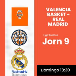 Previa J9: Valencia Basket – Real Madrid